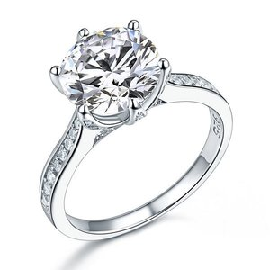 Inel din argint Diamond Classic Shape Cut clear
