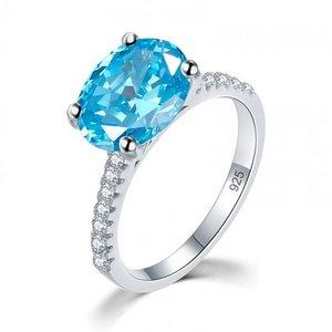 Inel din argint Diamond Duchess blue