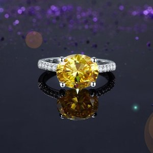 Inel din argint Diamond Duchess yellow