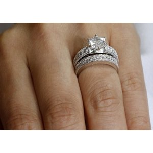 Set inele din argint Diamond Silver Band Set