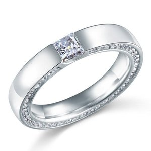 Inel din argint Diamond Wedding Circle