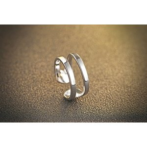 Inel din argint Double Silver
