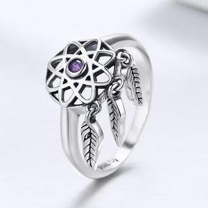 Inel din argint Dream Catcher purple