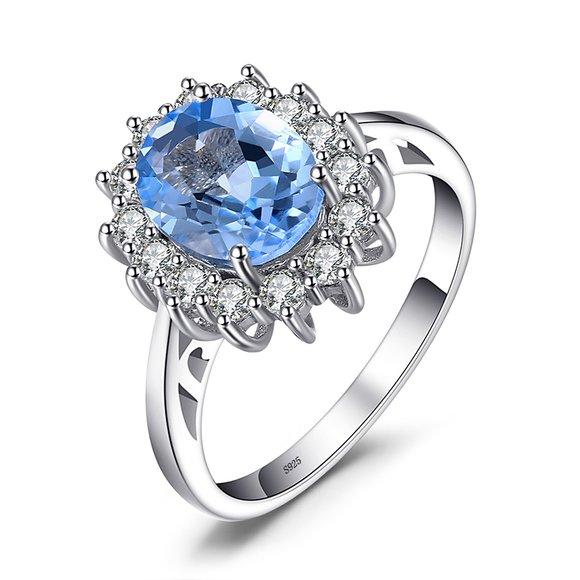 Inel din argint Elegant Light Blue Topaz