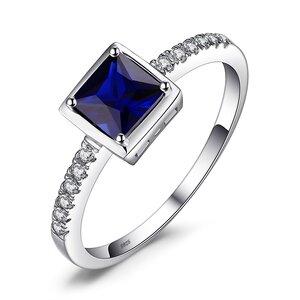 Inel din argint Elegant Square Sapphire