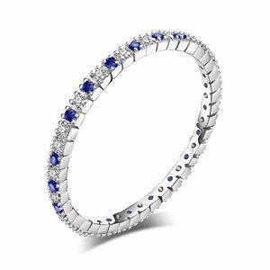 Inel din argint Eternity Blue Spinel