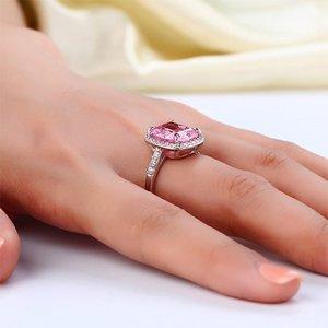 Inel din argint Exquisite Diamond Pink
