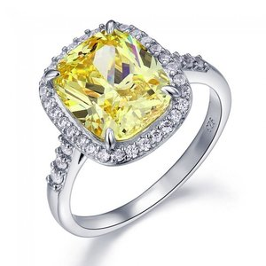 Inel din argint Exquisite Diamond Yellow