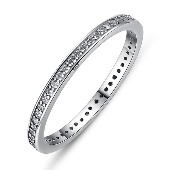 Inel din argint Fashion Band clear