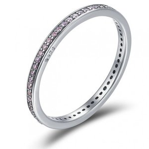 Inel din argint Fashion Band light pink