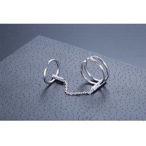 Inel reglabil din argint Fashion Double Ring