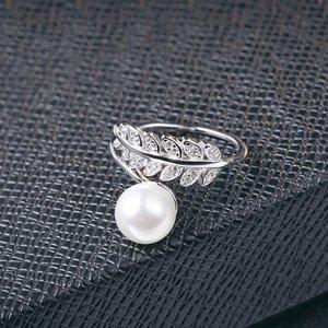 Inel din argint Flower Pearl