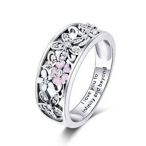 Inel din argint Flowers of Infinity