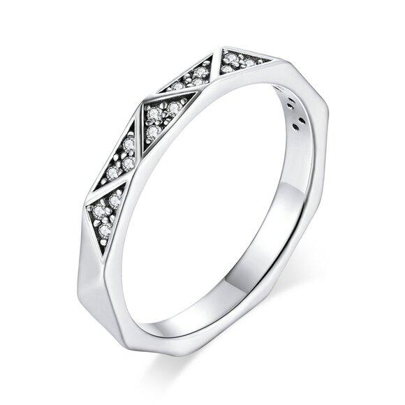 Inel din argint Geometric Ring