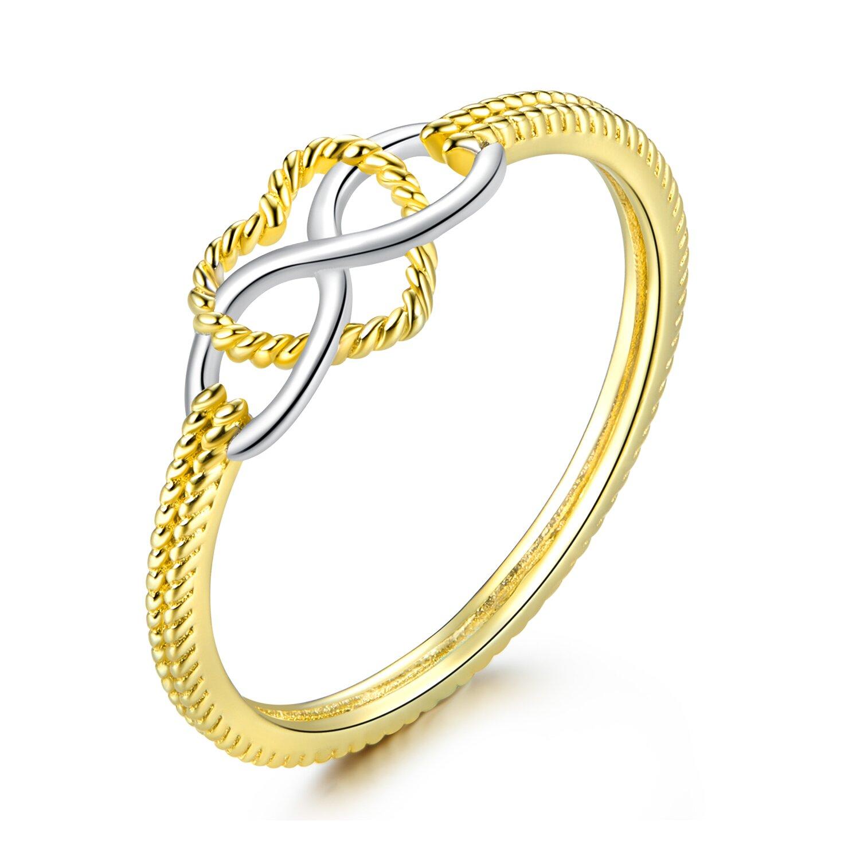 inel din argint golden infinite love 71437 4