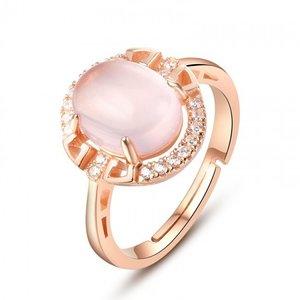 Inel din argint Golden Pink