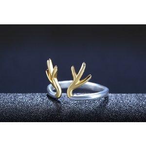 Inel din argint Golden Raindeer