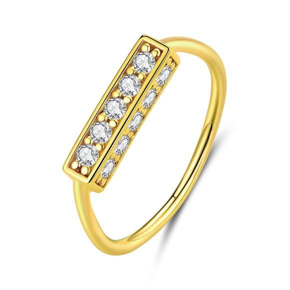 Inel din argint Golden Treasure
