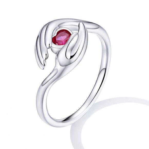 Inel din argint Guardian Heart