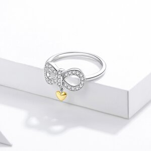 Inel din argint Infinity Crystal Symbol