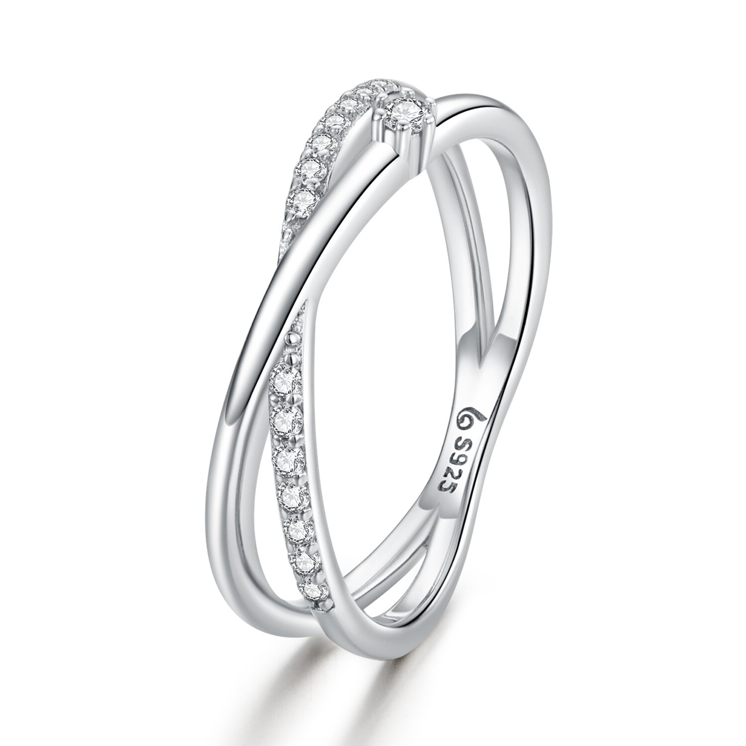 inel din argint intersected shiny bands 89974 4