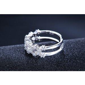 Inel reglabil din argint Lava Diamonds