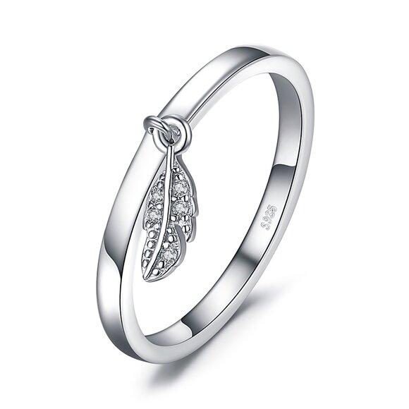 Inel din argint Little Feather