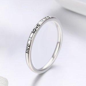 Inel din argint Live-Love-Life