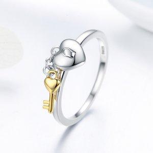 Inel din argint Locket & Key