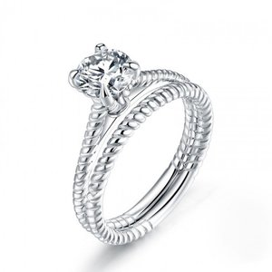 Inel din argint Love Promise Duo
