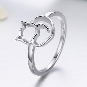 Inel din argint Lovely Cat