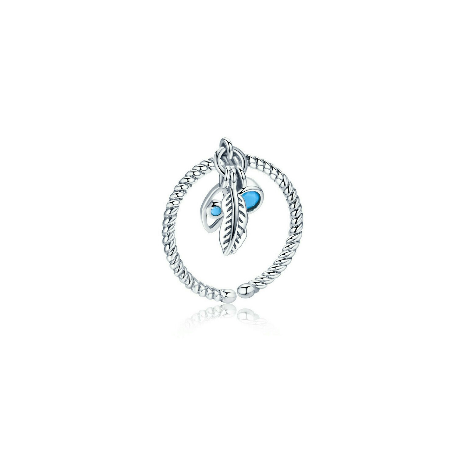 inel din argint lucky feather and blue eye 70003 4