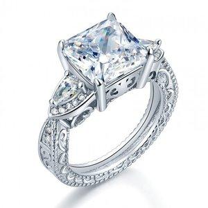 Inel din argint Luxury Square Diamond