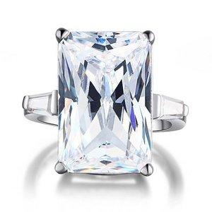 Inel din argint Luxury Square Radiant