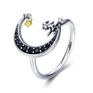Inel din argint Magic Moon Witch