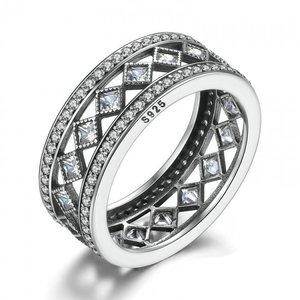Inel din argint masiv cu Mozaic si Cristale
