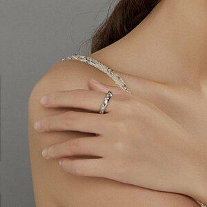 Inel din argint Massive Crystals Band
