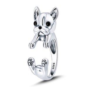 Inel din argint Massive French Bulldog