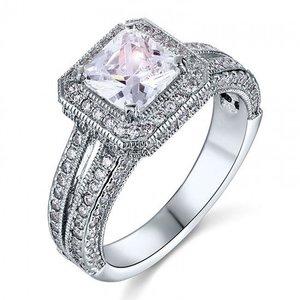 Inel din argint Massive Vintage Diamond