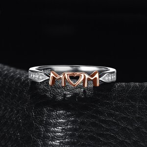 Inel din argint Mom Love