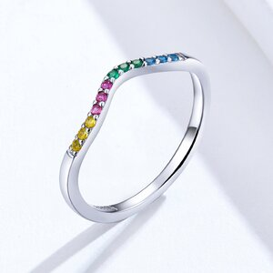 Inel din argint Multicolored Stones