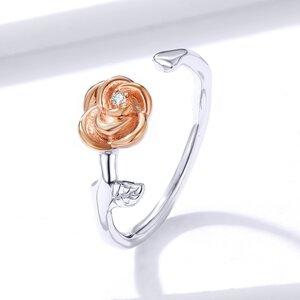 Inel din argint Open Rose