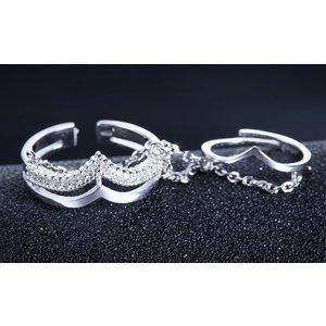 Inel din argint Oriental Chains