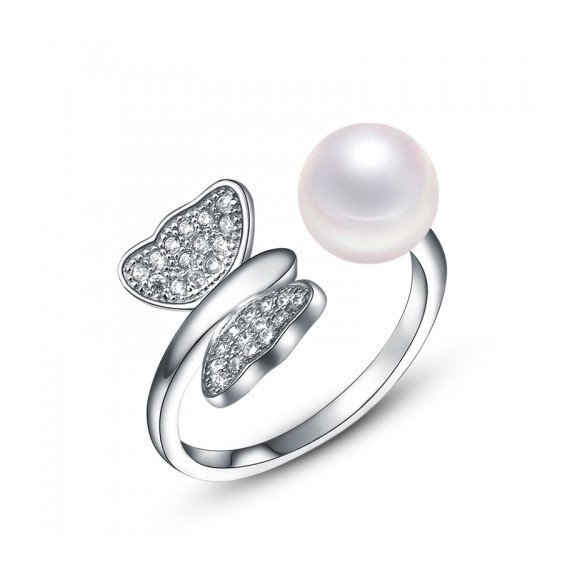 Inel din argint Pearl Wings