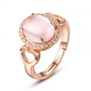 Inel din argint Pink Elegant Heart