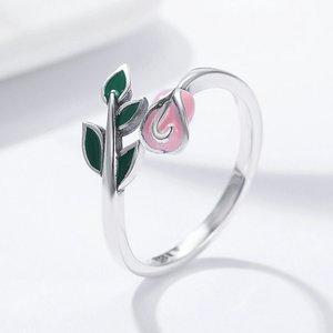 Inel din argint Pink Rose