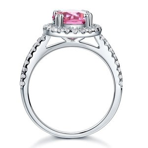Inel din argint Pink Single Crown