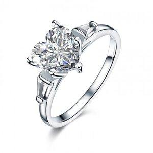 Inel din argint Pure Diamond Heart