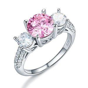Inel din argint Queens Diamonds's pink