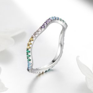 Inel din argint Rainbow Wave